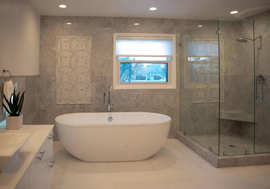The master bath has a modern look. (Tonya Harvey/Real Estate Millions)
