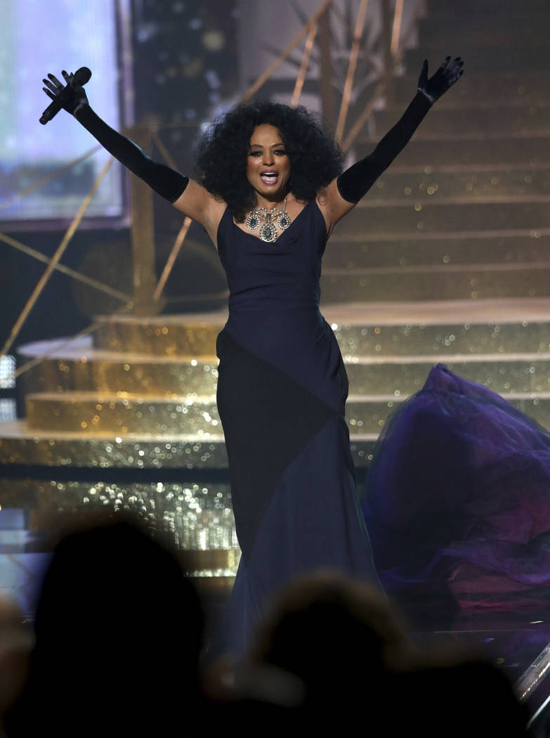 Diana Ross performs at the American Music Awards at the Microsoft Theater on Sunday, Nov. 19, 2017, in Los Angeles. (Photo by Matt Sayles/Invision/AP)