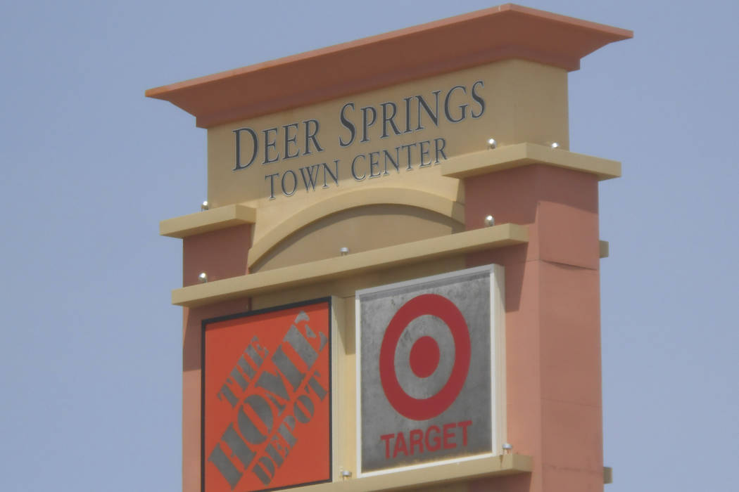 Deer Springs Town Center, pictured Tuesday, May 28, 2013, at the intersection of North Fifth Street and Interstate 215 in North Las Vegas. The sprawling, 62-acre shopping center recently sold for ...