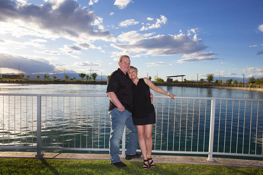 The maximum number of the homes that can be developed in Cadence, a Henderson master-planned community, is 13,250. Here, Rich and Bonnie White enjoy the view at Cadence's Central Park. (Cadence)