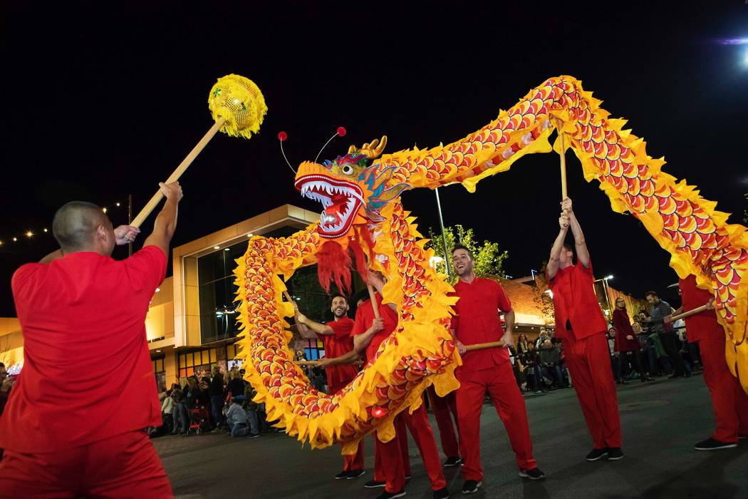 Lunar New Year returns to Downtown Summerlin with a visual celebration of the Year of the Pig. (Summerlin)