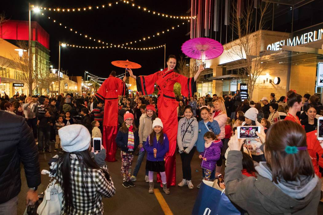 Lunar New Year celebration will include a parade with oversized Chinese dragon, fan dancers and percussionists. The free event is Feb. 5 at 6 p.m. (Summerlin)