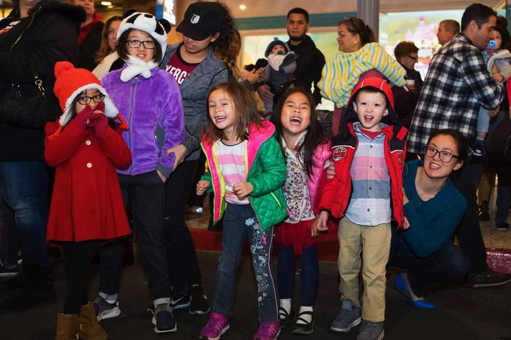 Children celebrate a previous Lunar New Year at Downtown Summerlin. This year's free event is Feb. 5 at 6 p.m. (Summerlin)