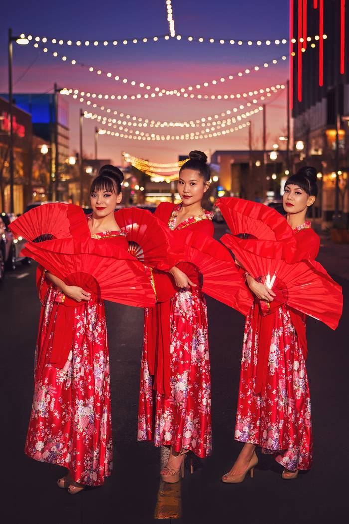 Entertainment at this year's Lunar New Year celebration at Downtown Summerlin will include fan dancers. (Summerlin)