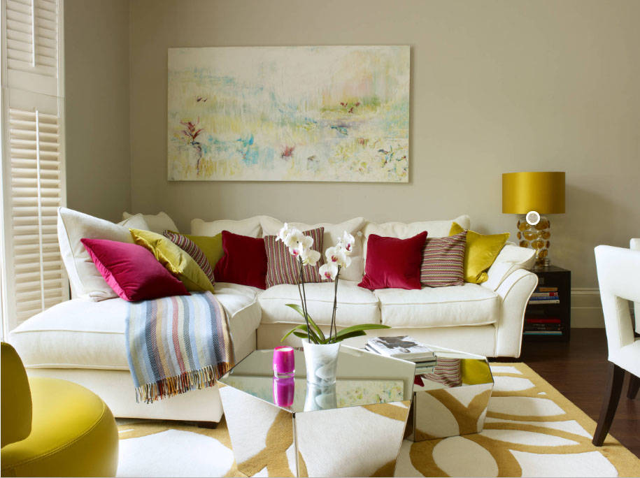 """This room decor is definitely not """"less is more"""" but still very beautiful. (Houzz)"""