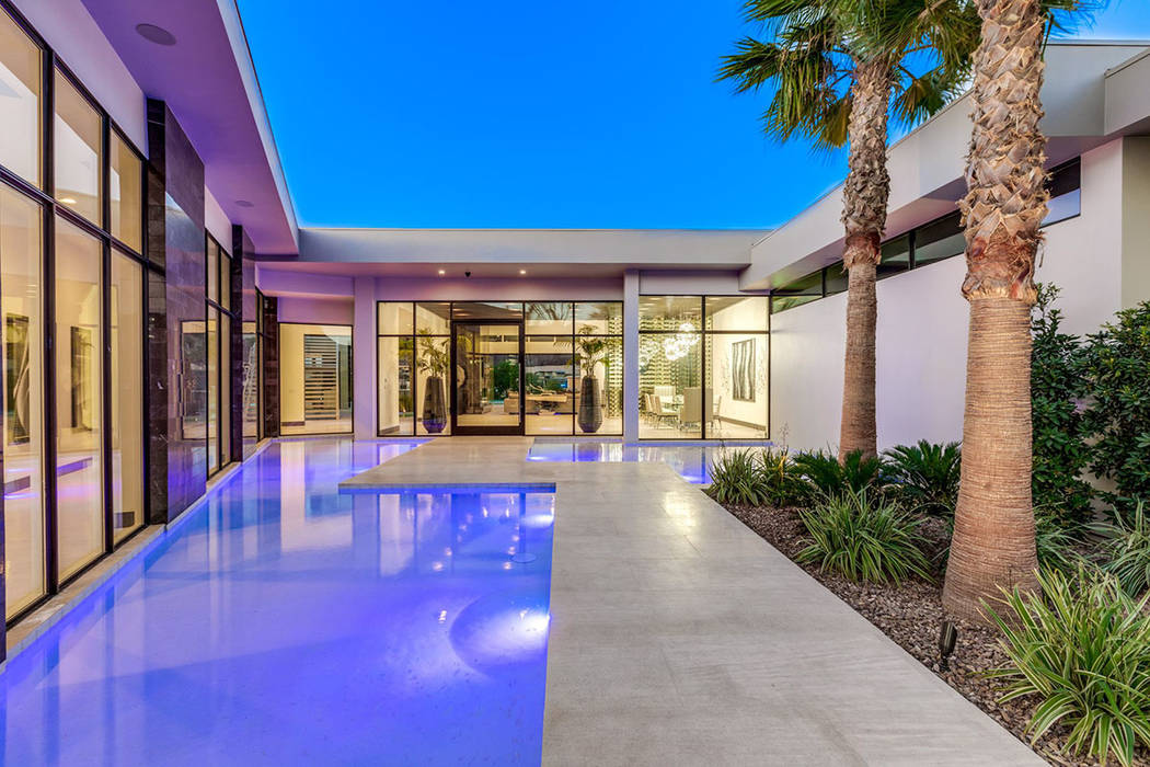 A pool feature is located at the entrance. (Ivan Sher Group)