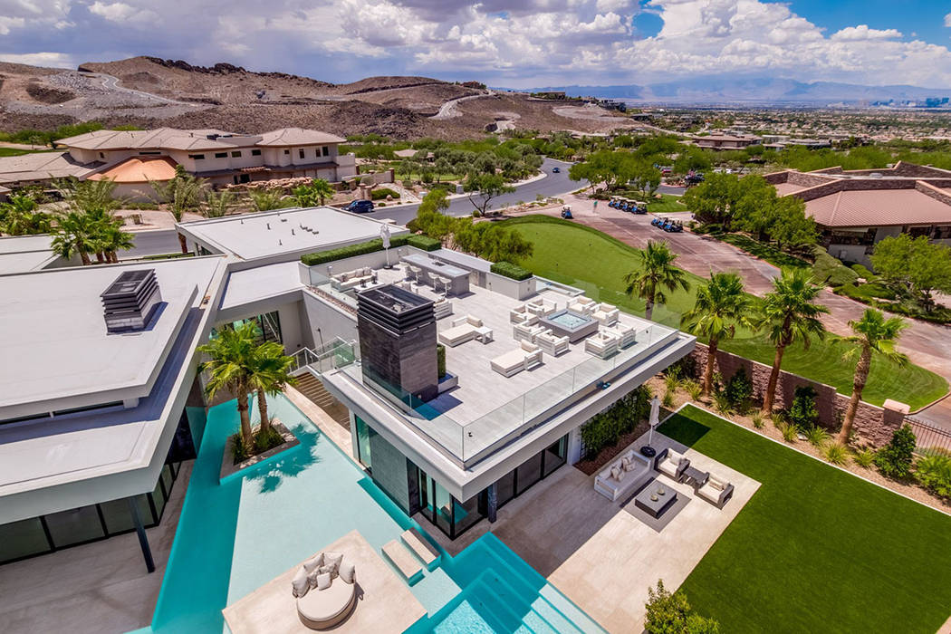 The custom home has water features, which is a trademark of Dan Coletti, owner of Sun West Custom Homes, which built it in 2017. (Ivan Sher Group)