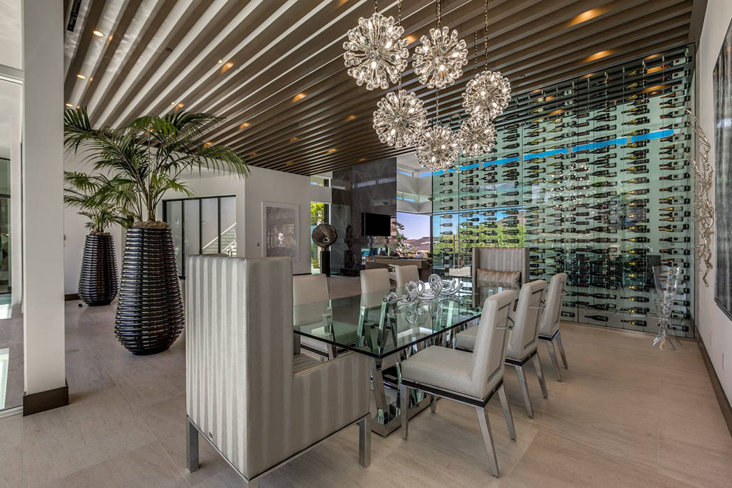 The home features a wine wall in the dining area. (Ivan Sher Group)