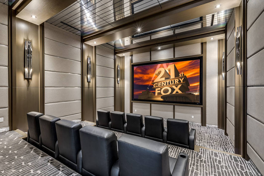 The home theater has all of the extras and is perfect for big game nights. (Ivan Sher Group)