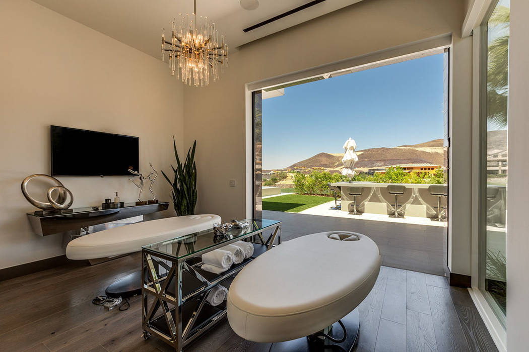 The spa room opens to the patio. (Ivan Sher Group)