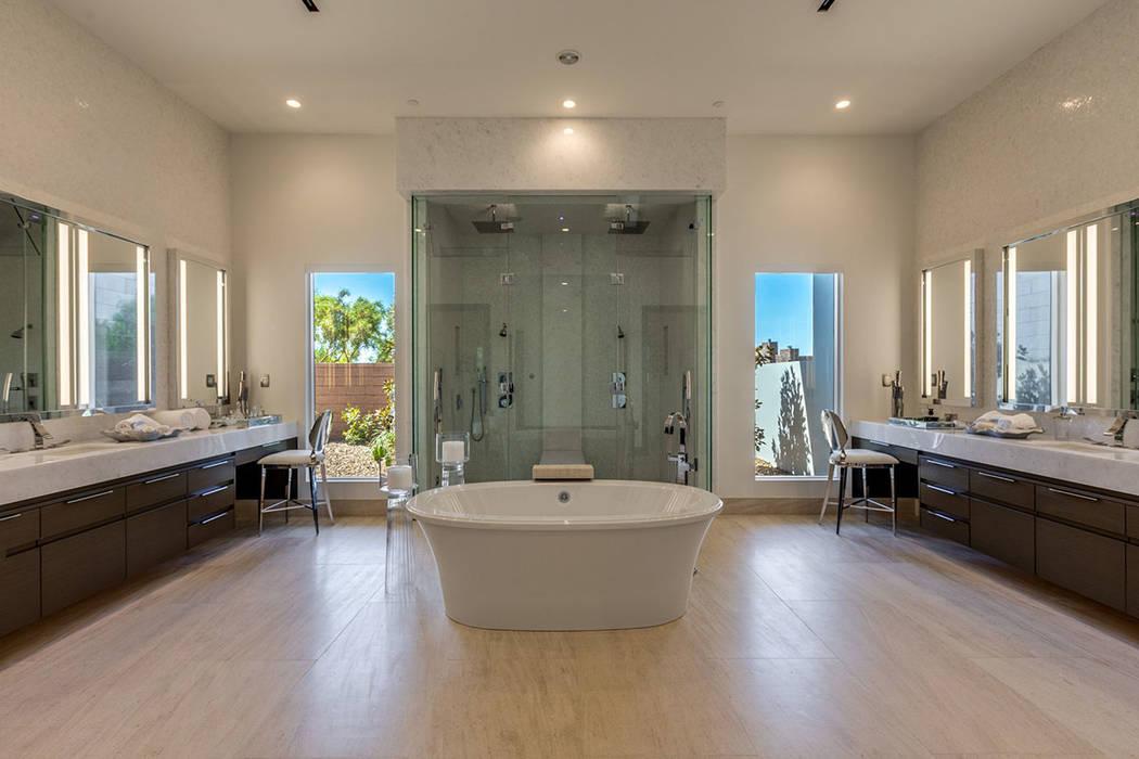 The master bath has a sleek, modern design. (Ivan Sher Group)