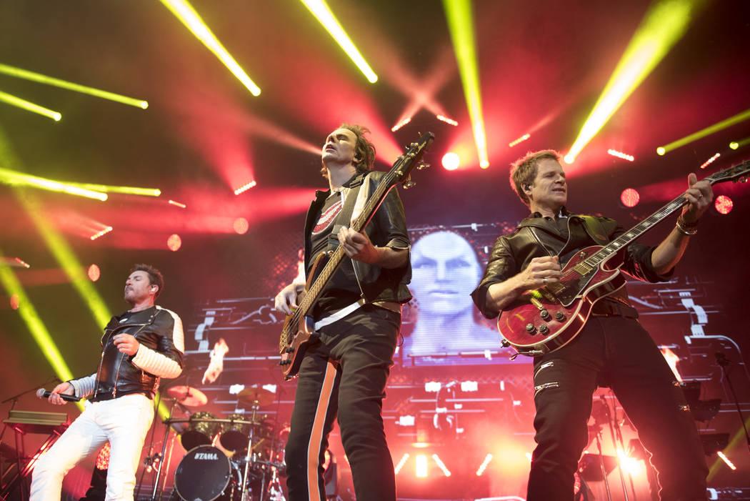 Duran Duran performs at Mandalay Bay Events Center on Friday, July 29, 2016, in Las Vegas. (Jason Ogulnik/Las Vegas Review-Journal)