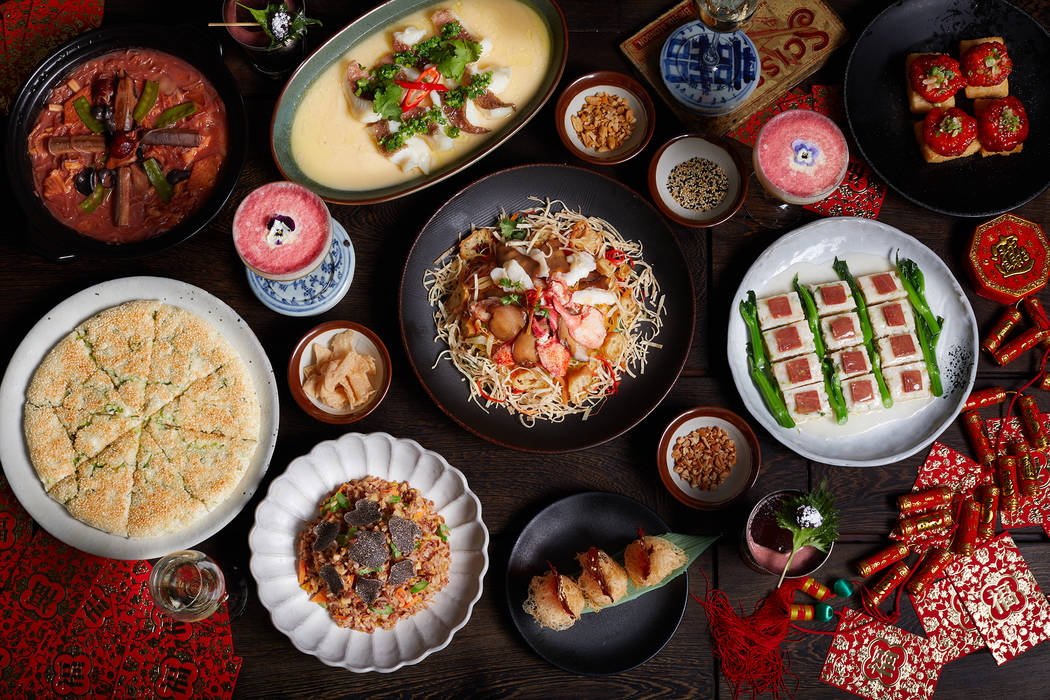 Mott 32's Lunar New Year menu includes Maine lobster, wagyu beef puff, a chicken fillet, king prawns and jade scallops. (Maximal Concepts)