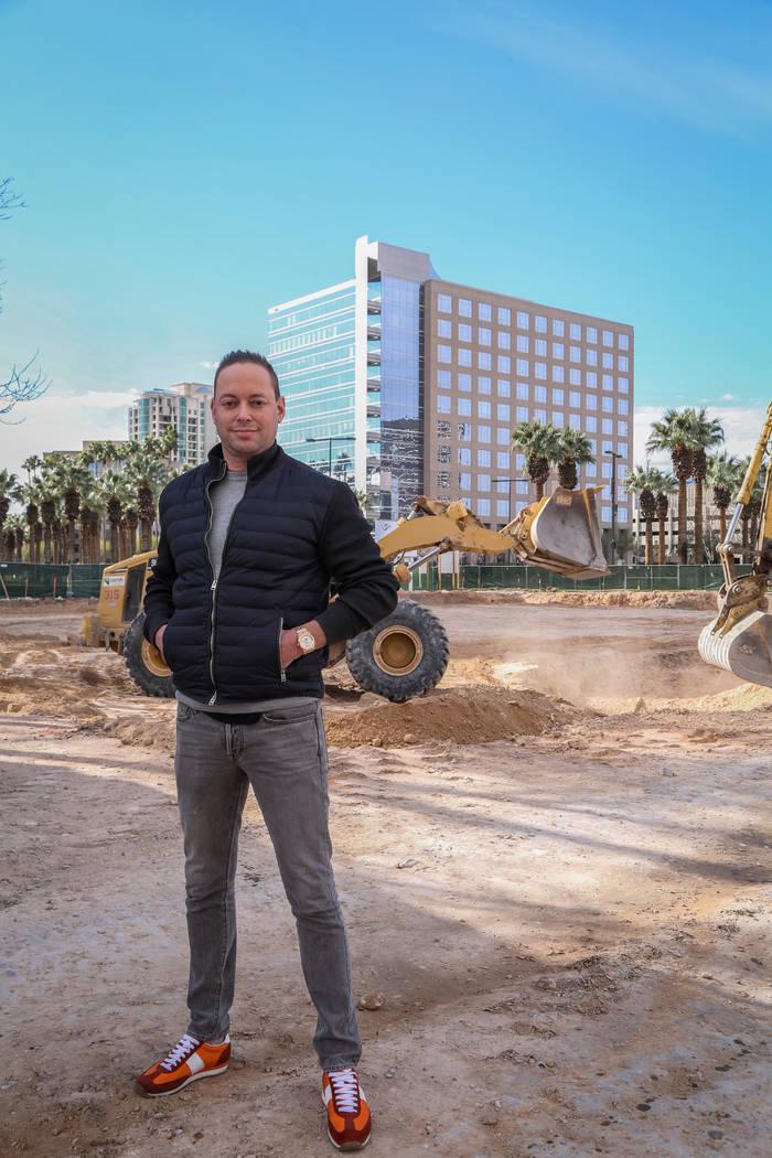 Developer Eric Cohen poses for a photograph on site of his current building project at the Hughes Center office park in Las Vegas, Thursday, Jan. 31, 2019. Caroline Brehman/Las Vegas Review-Journal