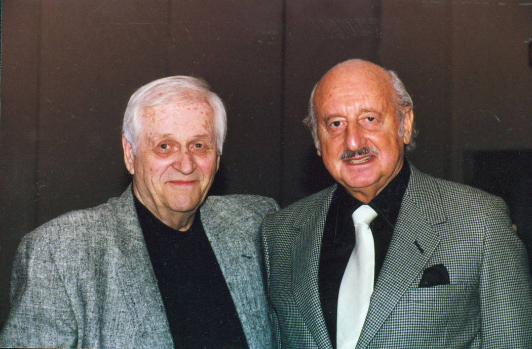 FILE*** SPECIAL TO THE REVIEW-JOURNAL Radio personality Lee Pete, left, stands with professional gambler Lem Banker in this undated photograph.
