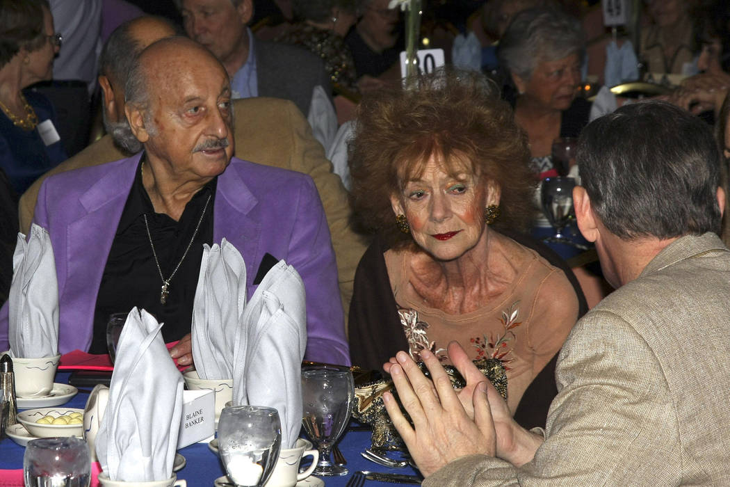 """Sports bettor and television personality Lem Banker (left) and his wife, Debbie, took part in the festivities at the Old Timers Party held at the Orleans Hotel and Casino. 10/19/08 """"View photo by ..."""