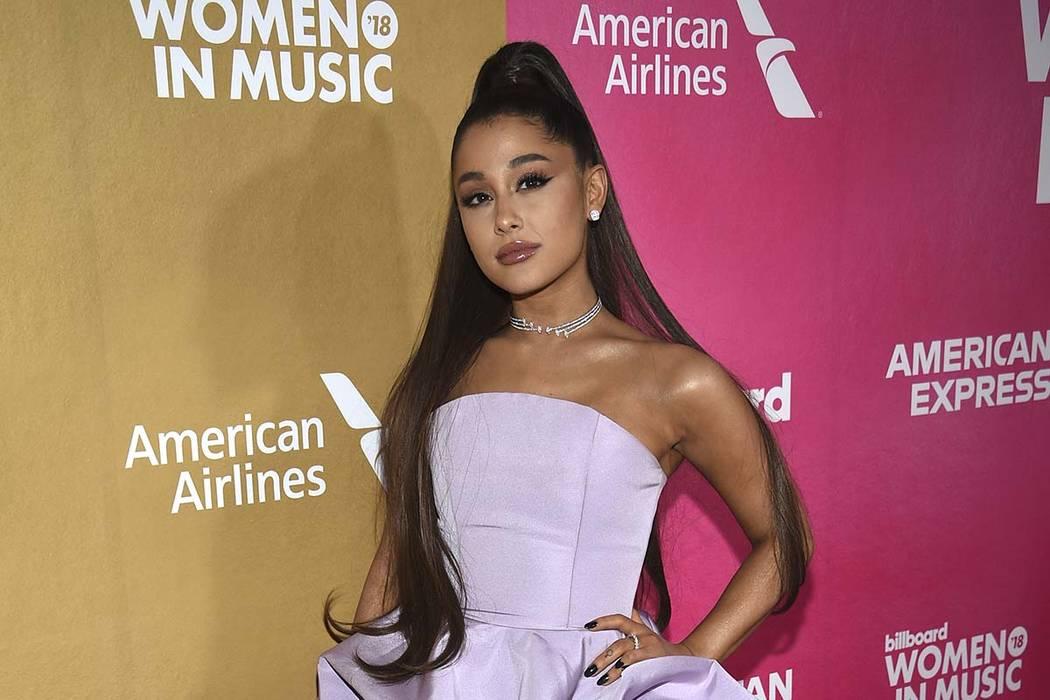 Ariana Grande attends the 13th annual Billboard Women in Music event at Pier 36 in New York on Dec. 6, 2018. (Evan Agostini/Invision/AP, File)