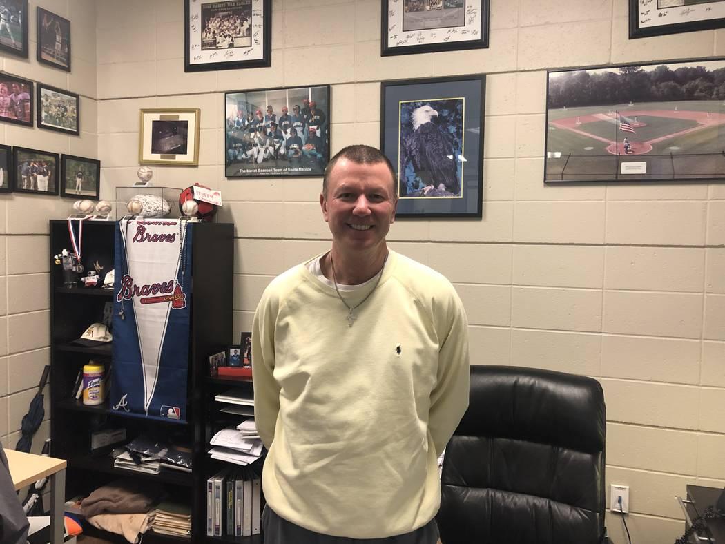 Marist School assistant football coach Dan Perez, who was Sean McVay's head freshman team coach. Photo by Ed Graney.