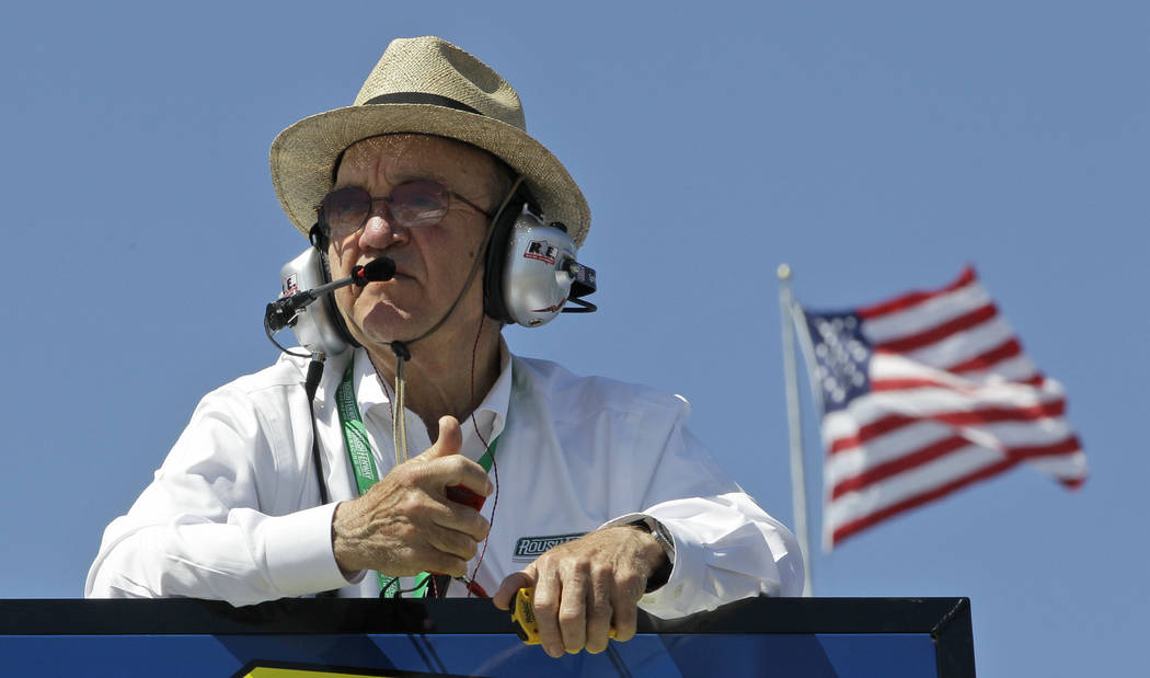 Team owner Jack Roush watches practice for the NASCAR Sprint Cup series auto race at Martinsville Speedway in Martinsville, Va. on April 5, 2013. Roush is being inducted into the NASCAR Hall of Fa ...