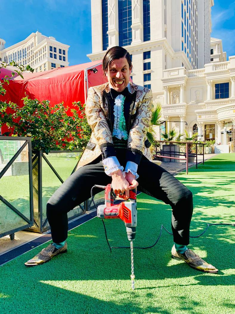 The Gazillionaire breaks ground on the Absinthe Electric Oak at Caesars Palace on Friday, Feb. 8, 2019. (Absinthe Las Vegas)