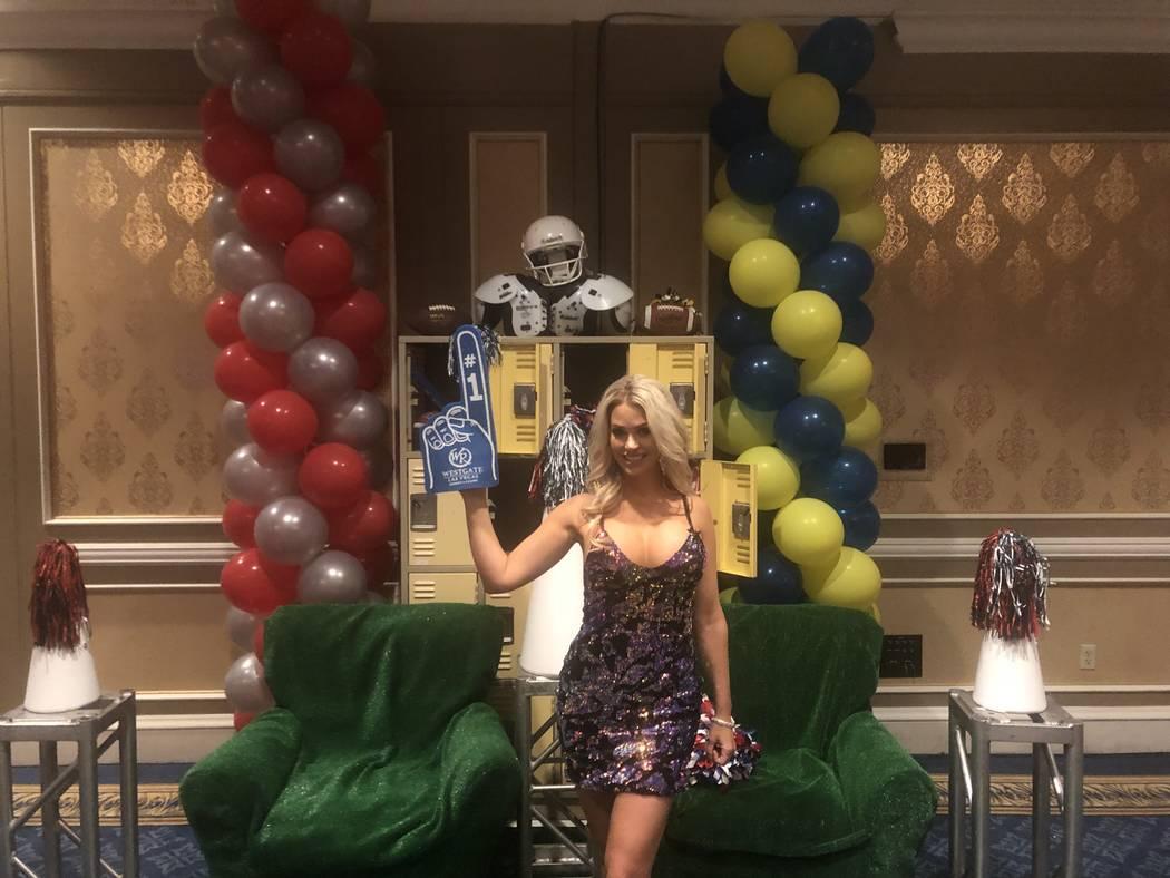 Supermodel Elle Johnson is shown at Westgate Las Vegas on Sunday, Feb. 3, 2019. John Katsilometes/Las Vegas Review-Journal @JohnnyKats
