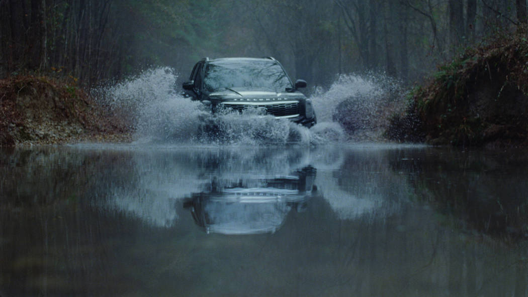 This undated image provided by Kia Motors America shows an image from the company's 2019 Super Bowl NFL football spot. (Kia Motors America via AP)