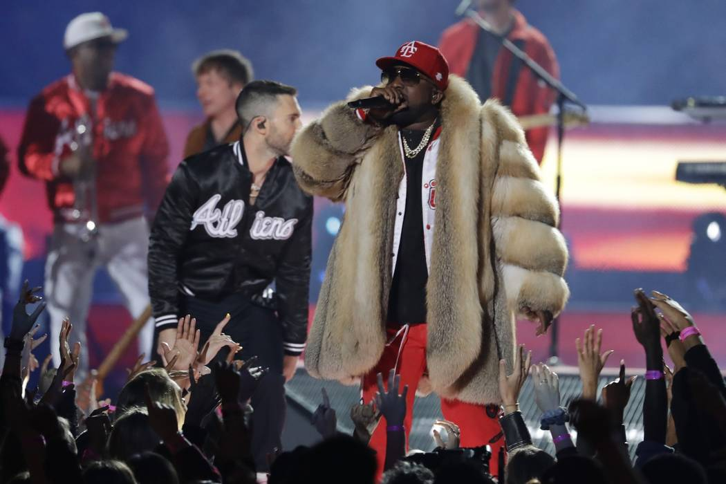 Big Boi performs during halftime of the NFL Super Bowl 53 football game between the Los Angeles Rams and the New England Patriots Sunday, Feb. 3, 2019, in Atlanta. (AP Photo/Jeff Roberson)