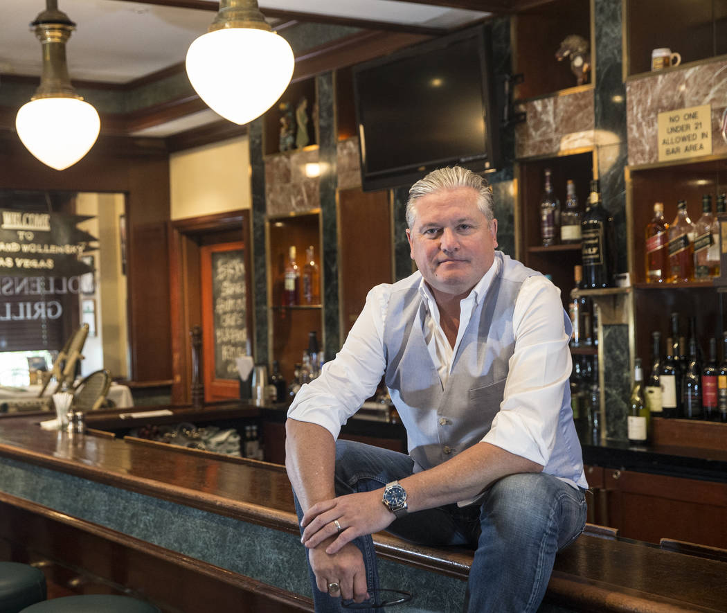 Smith & Wollensky CEO Michael Feighery at the iconic Las Vegas Strip steakhouse on Friday, May 26, 2017. Smith & Wollensky is closing its doors after a 17 year run, and will auction off mu ...