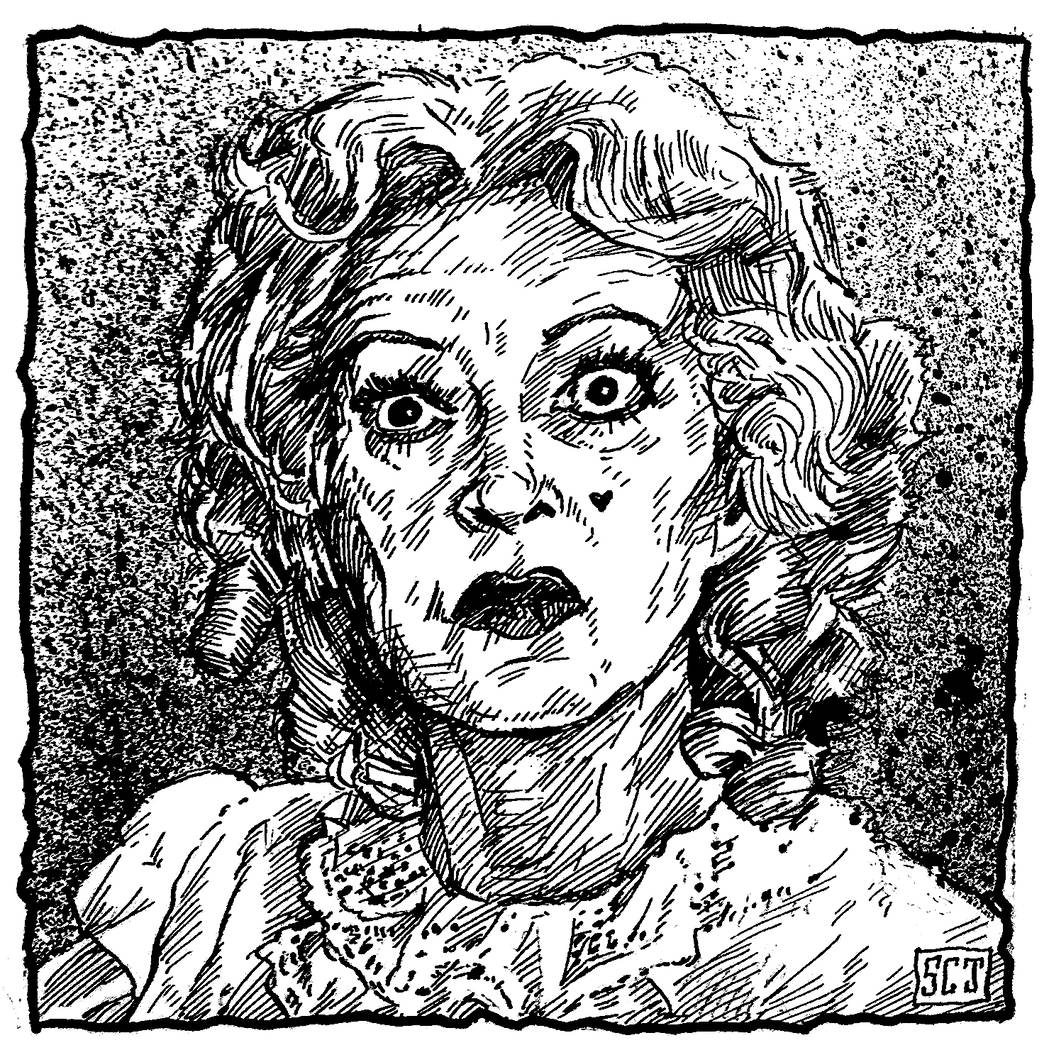 """Baby Jane"" by Sean C. Jones. Drawings and photos by former UNLV classmates Ginger Bruner, Sean C. Jones and Montana Black are on display at the Nevada Humanities Program Gallery. (Sean C. Jones)"