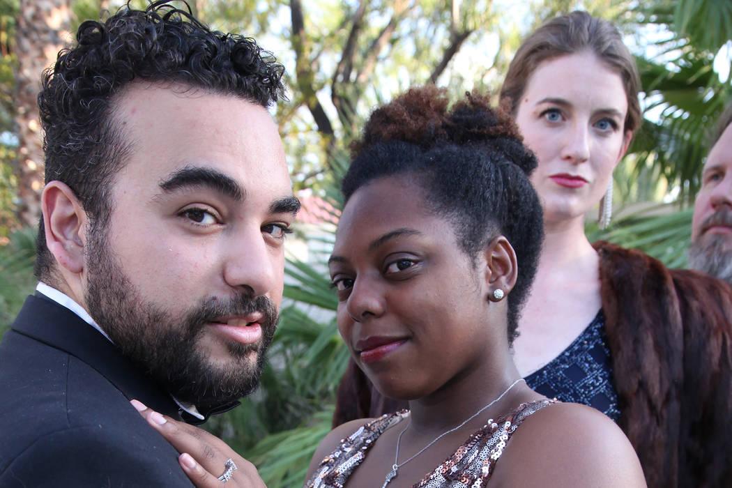 """Alex Rodin Mendoza and Dominique Mendez in Sin City Opera and Cockroach Theatre Company's """"Gianni Schicchi"""" (Toby Allen)"""