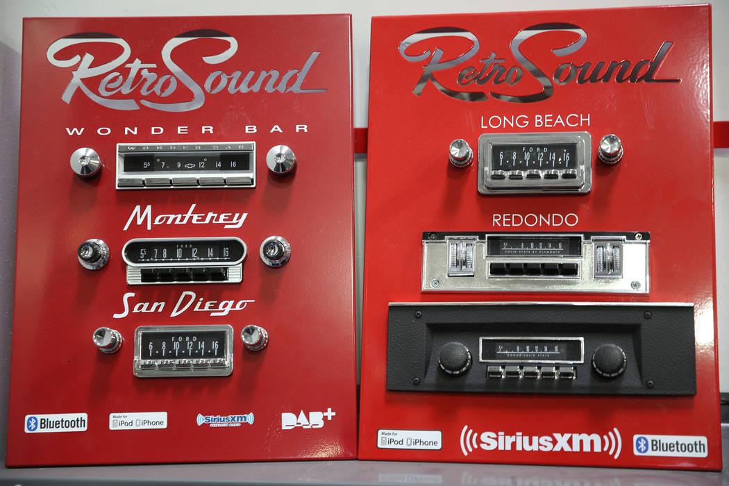 Radio models at the Retro Manufacturing headquarters in Henderson, Tuesday, Feb. 5, 2019. (Erik Verduzco/Las Vegas Review-Journal) @Erik_Verduzco