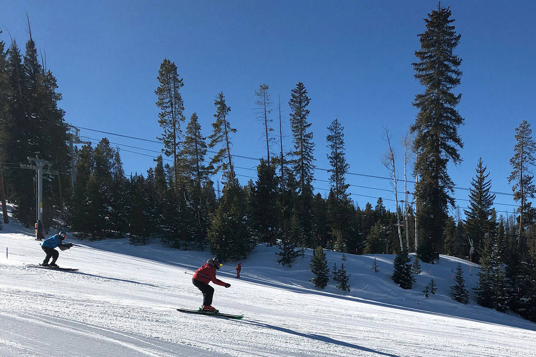 Mark Wilbourne is pictured skiing during a family ski trip last month. (Wilbourne family collection)