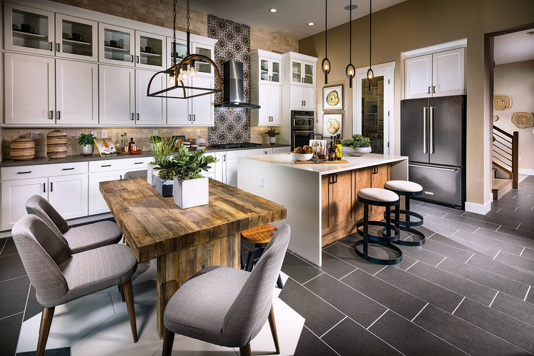 The Eclipse Elite model at Shadow Ridge by Toll Brothers showcases this kitchen. Located in Summerlin's Stonebridge village, Shadow Ridge recently opened its models. (Summerlin)