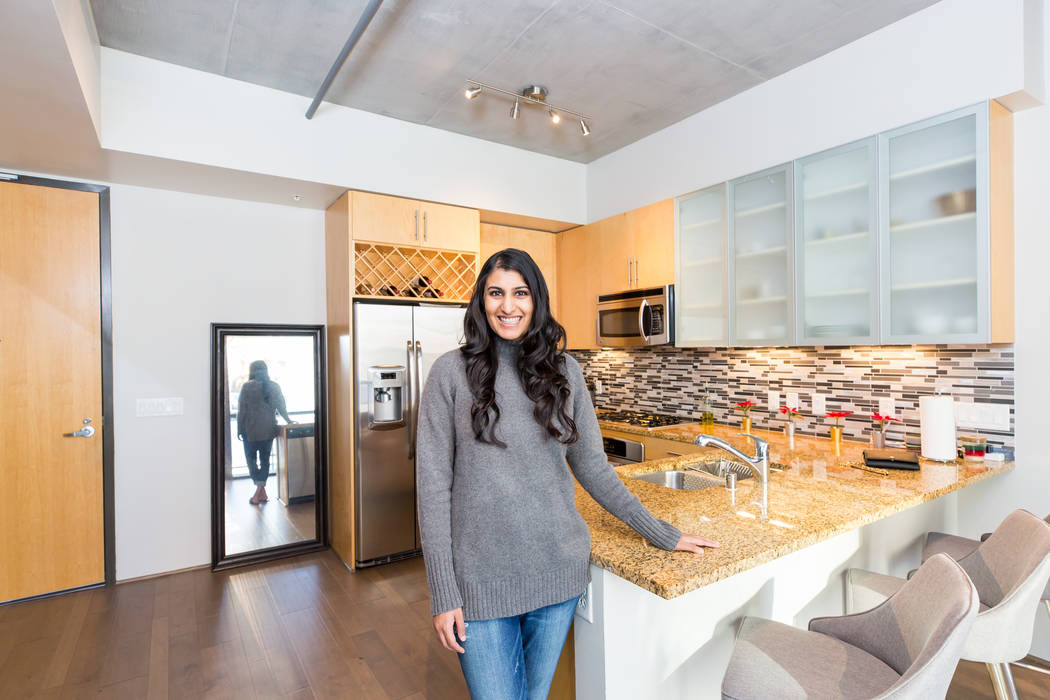 Nina Parikh is a first-year resident at the University Medical Center and recently purchased her first home at Juhl, a loft-style high-rise community in downtown Las Vegas. (Mona Shield Payne Juhl)
