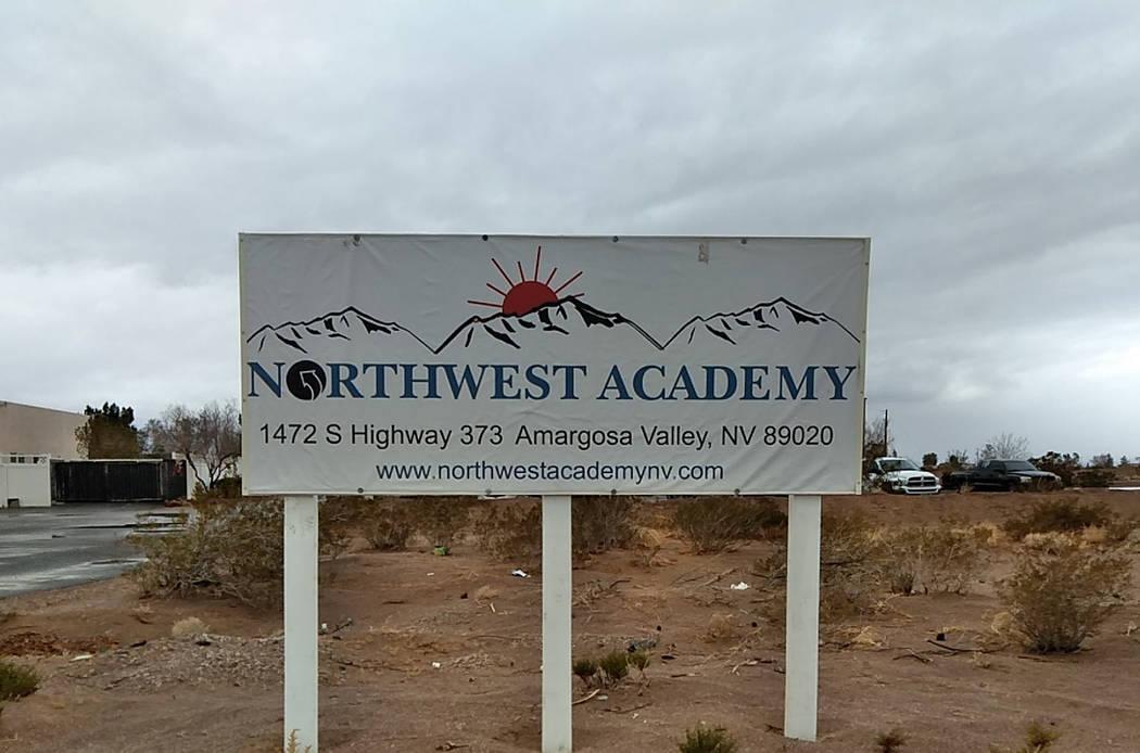 Northwest Academy in Amargosa Valley. (Selwyn Harris/ Pahrump Valley Times)