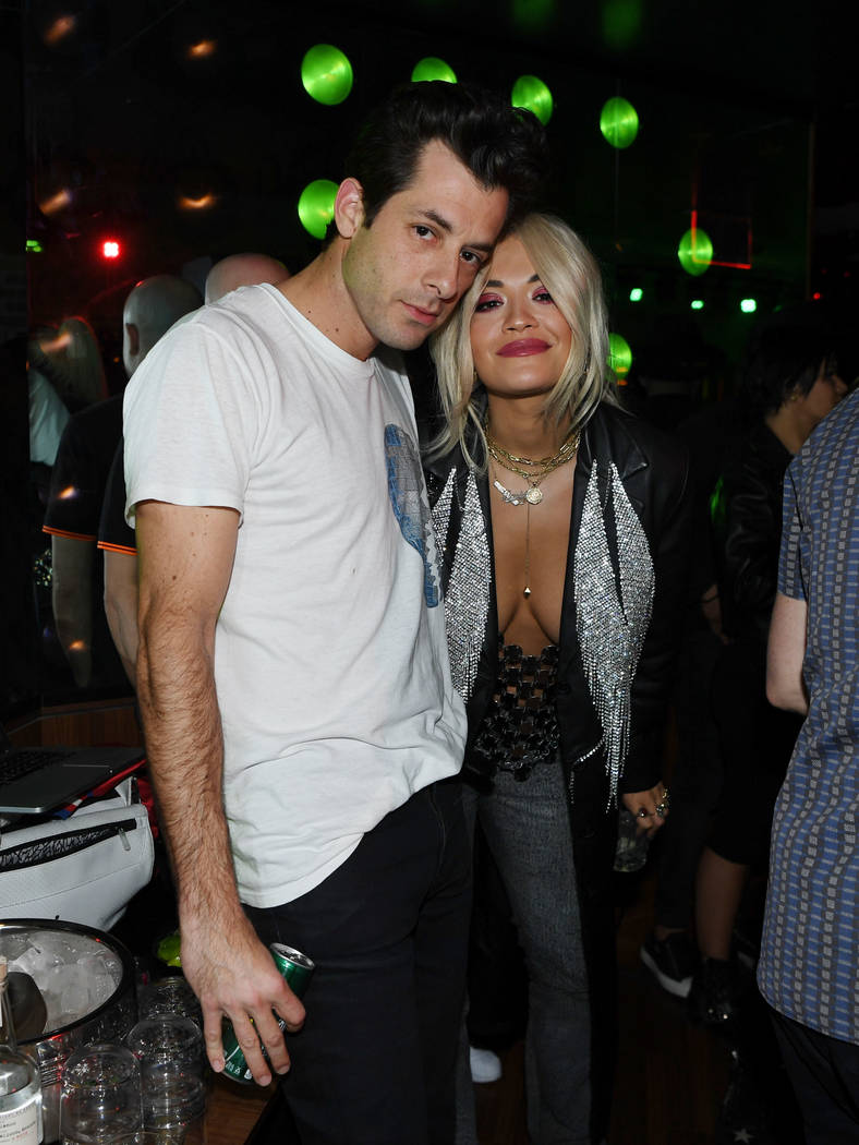 LAS VEGAS, NV - FEBRUARY 02: Mark Ronson and Rita Ora attend On The Record Speakeasy And Club In Park MGM as Mark Ronson Launches his DJ Residency on February 2, 2019 in Las Vegas, Nevada. (Phot ...