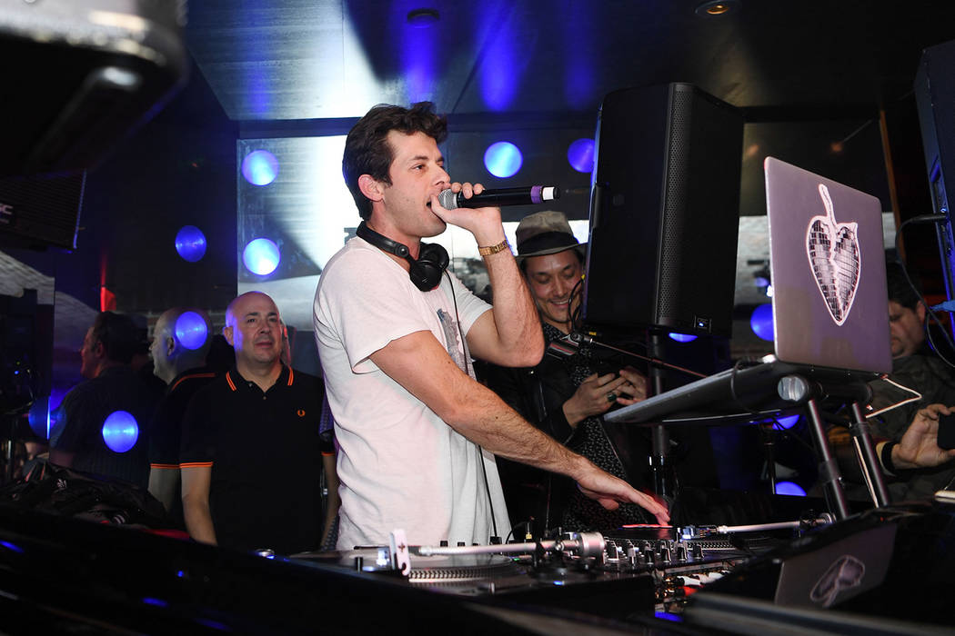 Mark Ronson performs at On The Record Speakeasy And Club in Park MGM as he Launches his DJ Residency on February 2, 2019 in Las Vegas, Nevada. (Photo by Denise Truscello/Getty Images for Park MGM)