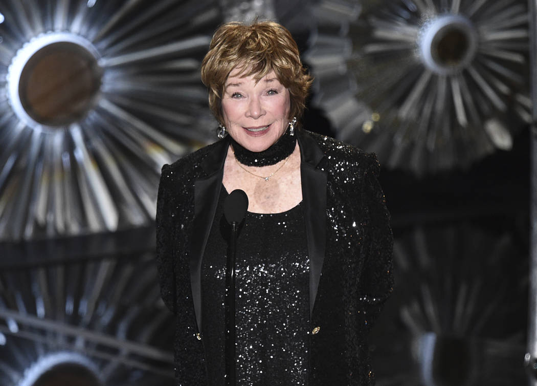 FILE - This Feb. 22, 2015, file photo shows Shirley MacLaine at the Oscars in Los Angeles. MacLaine was honored for career achievement by the AARP, the organization for retired persons and its AAR ...