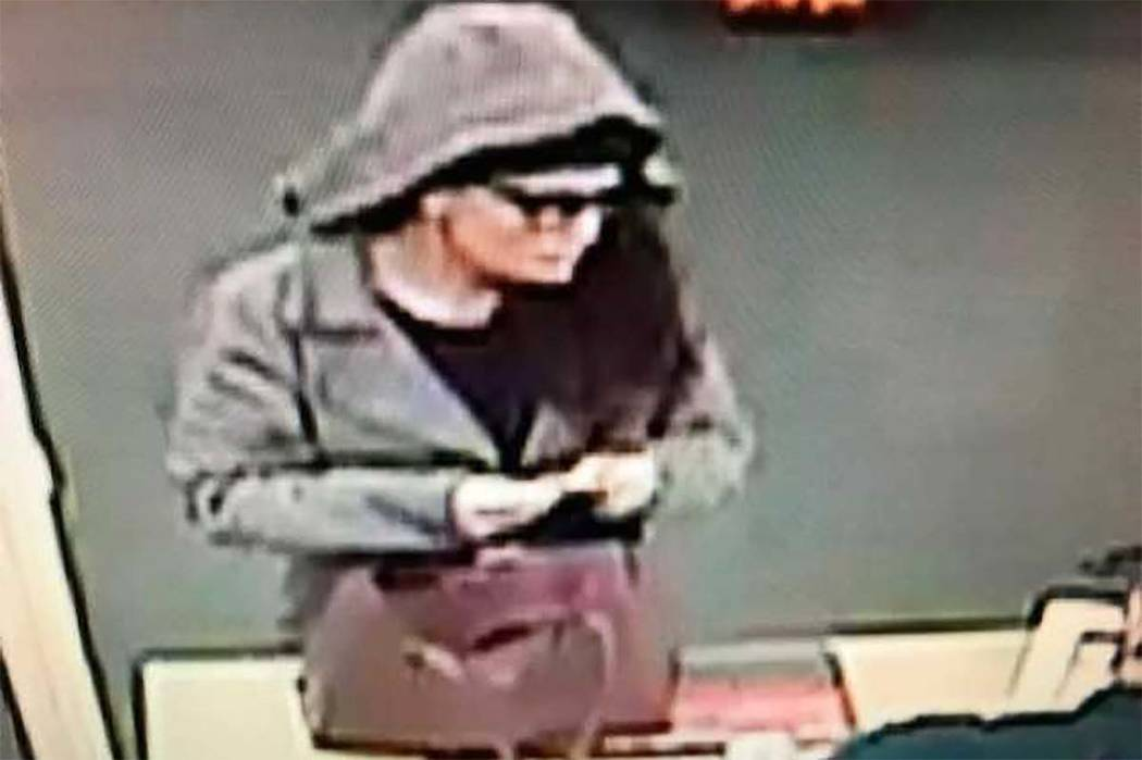 Las Vegas police are looking for a woman wanted in a Jan. 25 robbery. (Las Vegas police)