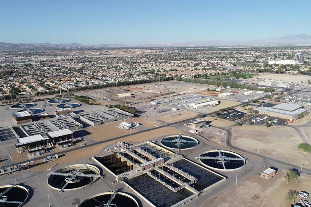 The Flamingo Water Resource Center, the largest sewage treatment plant in Nevada. (Clark County Water Reclamation District)