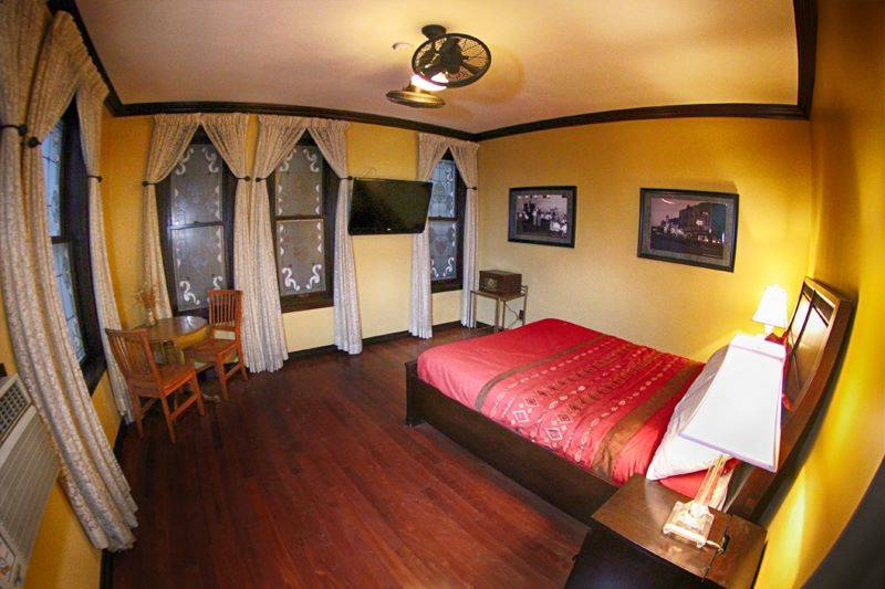 A room at Binion's 81-room Hotel Apache boutique hotel. (Binions Hotel & Gambling Hall)