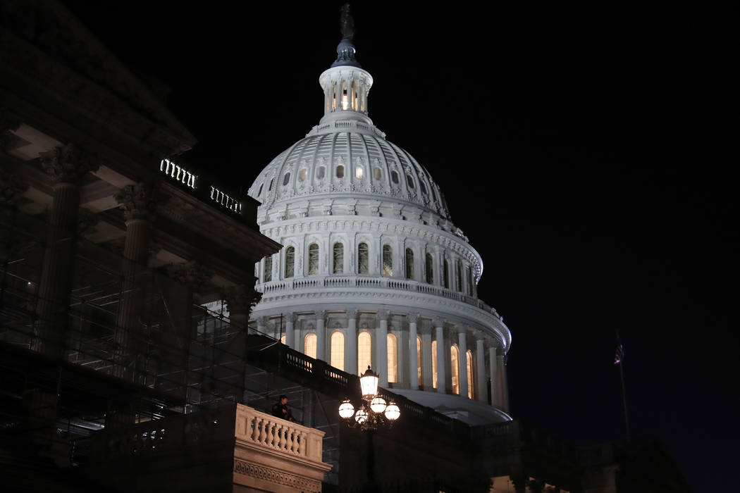 The U.S Capitol before President Donald Trump gives his State of the Union speech before a joint session of Congress, Tuesday, Feb. 5, 2019 in Washington. (AP Photo/Manuel Balce Ceneta)