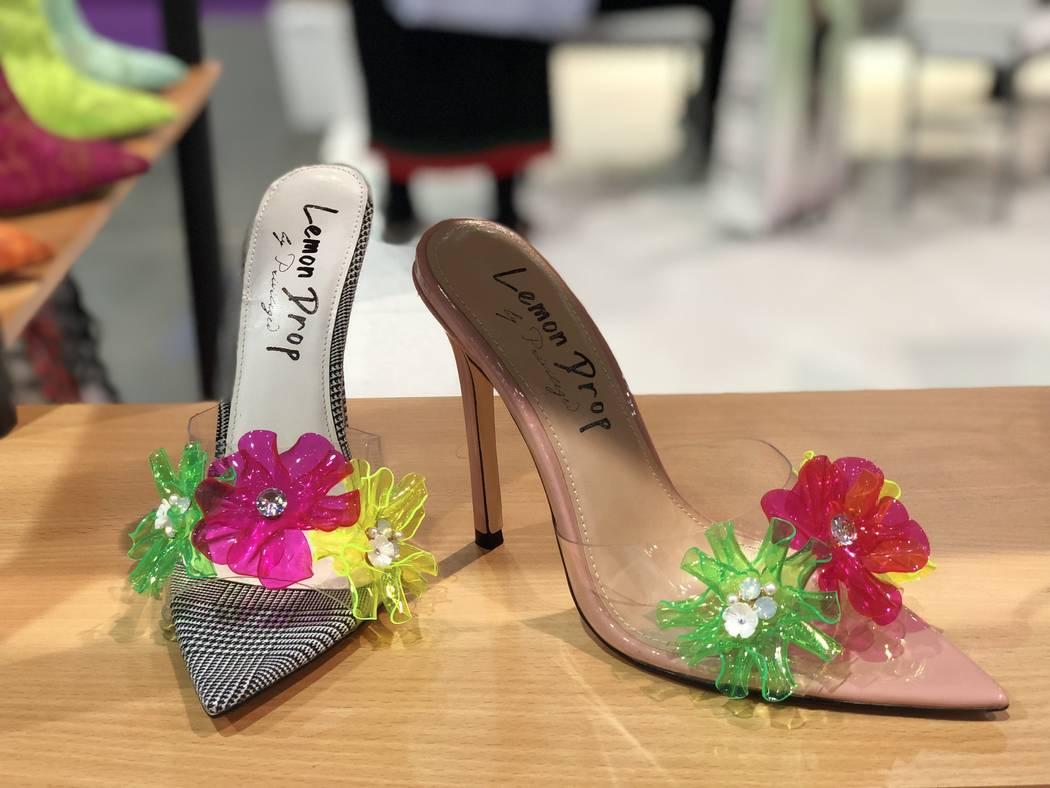 Heels by Privileged at MAGIC in Las Vegas. (Janna Karel Las Vegas Review-Journal)