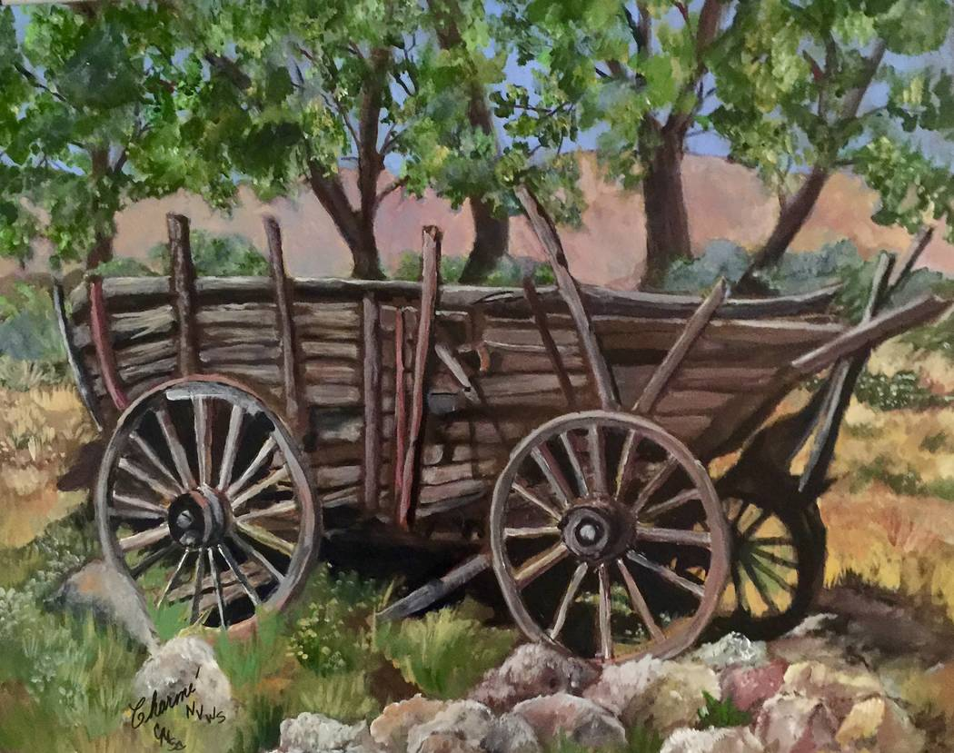 """Trails End"" by Charme' Curtin is on display in the exhibit ""Eclecticism"" at Boulder City Art Guild Gallery."