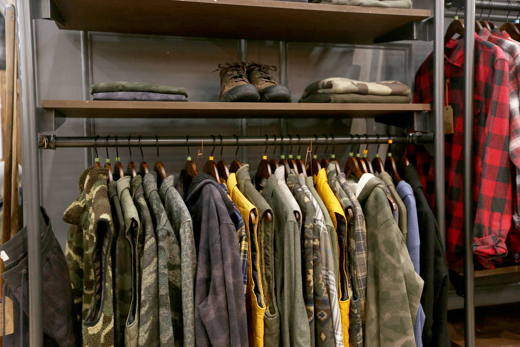 Outdoor-inspired styles at the Weatherproof Vintage booth at the fashion trade show MAGIC at the Mandalay Bay Convention Center in Las Vegas, Tuesday, Feb. 5, 2019. (Rachel Aston/Las Vegas Review- ...
