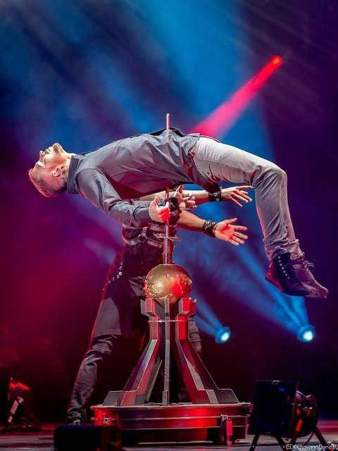 """A scene from """"The Illusionists"""" European tour, produced by The Works, which has been acquired by Cirque du Soliel. (Justine Lord-Dufour)"""