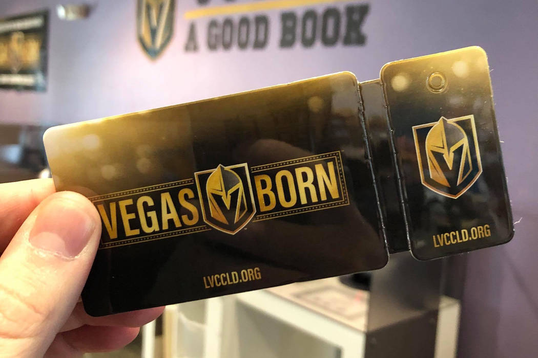 The official Golden Knights Las Vegas-Clark County Library District library card. (Steven Matview/Facebook)
