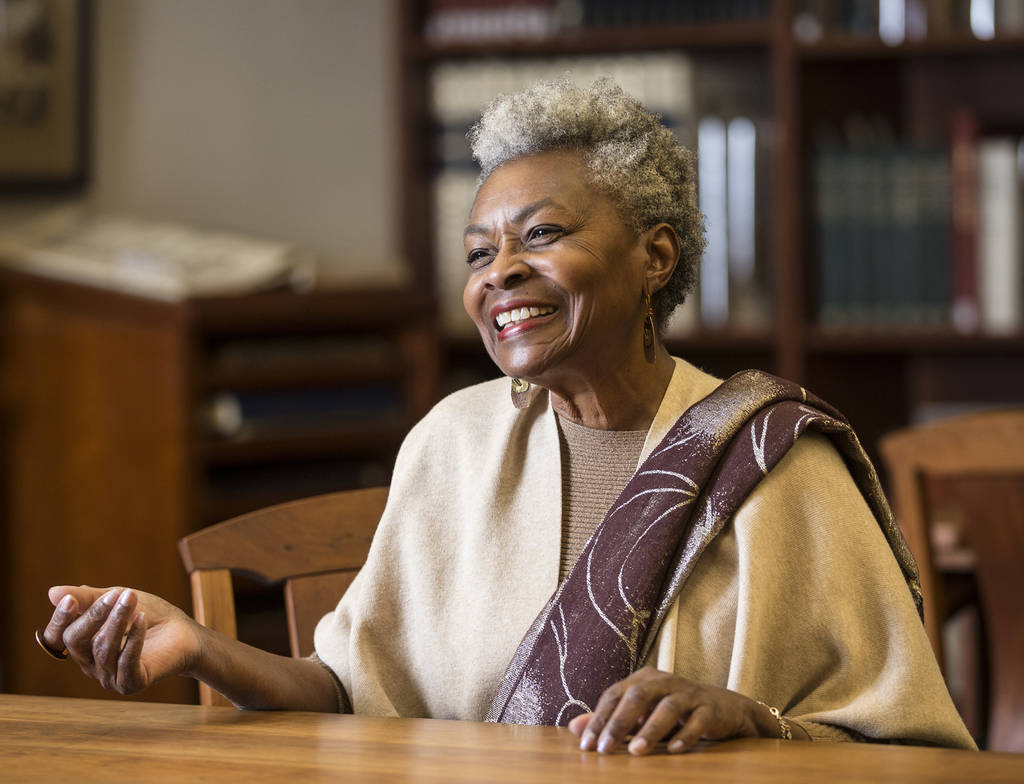 Claytee White, director of UNLV Libraries Oral History Program, on Tuesday, Feb. 5, 2019, at Lied Library, at UNLV, in Las Vegas. (Benjamin Hager/Las Vegas Review-Journal) @BenjaminHphoto
