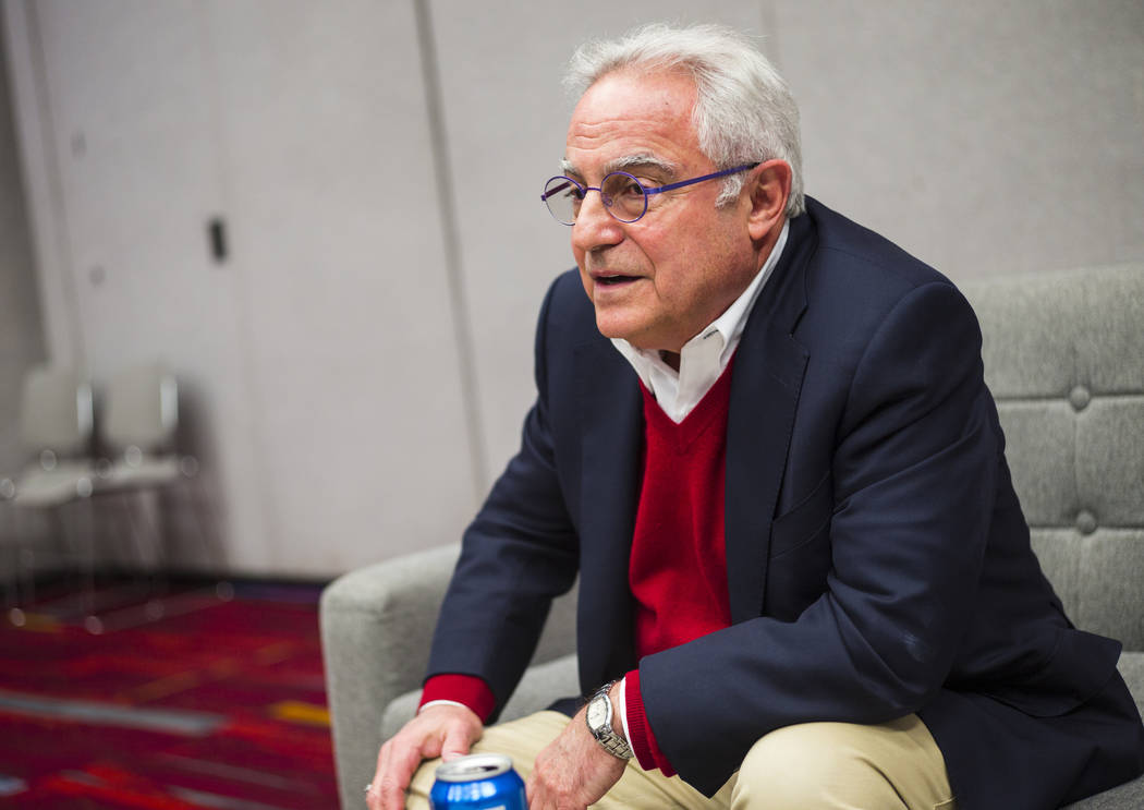 Rick Helfenbein, president and CEO of the American Apparel & Footwear Association, talks about the potential negative effects of tariffs during the MAGIC trade show at the Las Vegas Convention ...