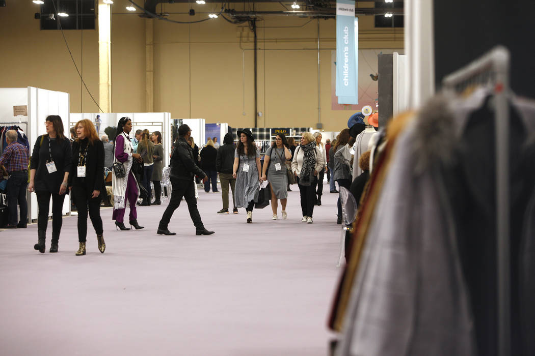 The fashion trade show MAGIC at the Mandalay Bay Convention Center in Las Vegas, Wednesday, Feb. 6, 2019. (Rachel Aston/Las Vegas Review-Journal) @rookie__rae